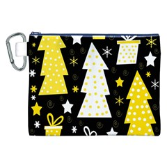 Yellow playful Xmas Canvas Cosmetic Bag (XXL)