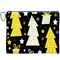 Yellow playful Xmas Canvas Cosmetic Bag (XXXL)