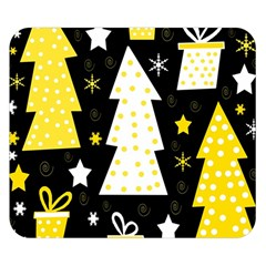 Yellow playful Xmas Double Sided Flano Blanket (Small)