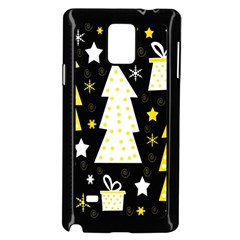 Yellow playful Xmas Samsung Galaxy Note 4 Case (Black)