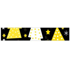 Yellow playful Xmas Flano Scarf (Large)