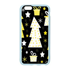 Yellow playful Xmas Apple Seamless iPhone 6/6S Case (Color)