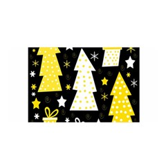Yellow playful Xmas Satin Wrap