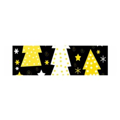 Yellow playful Xmas Satin Scarf (Oblong)