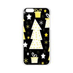 Yellow playful Xmas Apple Seamless iPhone 6/6S Case (Transparent)
