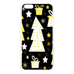 Yellow playful Xmas Apple Seamless iPhone 6 Plus/6S Plus Case (Transparent)