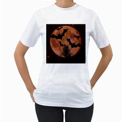 Halloween Card Scrapbook Page Women s T-Shirt (White) (Two Sided)