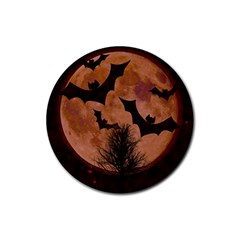 Halloween Card Scrapbook Page Rubber Coaster (Round)