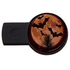 Halloween Card Scrapbook Page USB Flash Drive Round (1 GB)