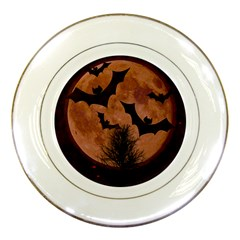 Halloween Card Scrapbook Page Porcelain Plates