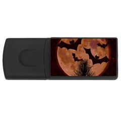 Halloween Card Scrapbook Page USB Flash Drive Rectangular (4 GB)