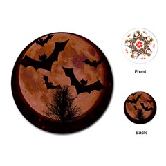 Halloween Card Scrapbook Page Playing Cards (Round)