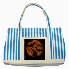 Halloween Card Scrapbook Page Striped Blue Tote Bag