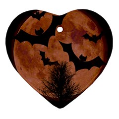 Halloween Card Scrapbook Page Heart Ornament (2 Sides)