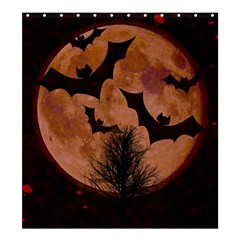 Halloween Card Scrapbook Page Shower Curtain 66  x 72  (Large)