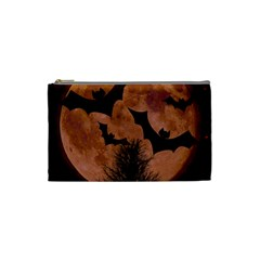 Halloween Card Scrapbook Page Cosmetic Bag (Small)