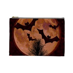 Halloween Card Scrapbook Page Cosmetic Bag (Large)
