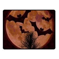 Halloween Card Scrapbook Page Fleece Blanket (Small)