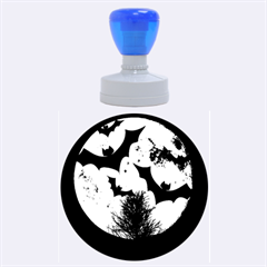 Halloween Card Scrapbook Page Rubber Round Stamps (Large)