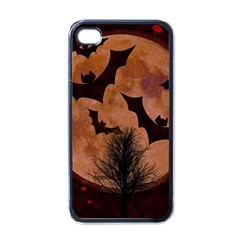 Halloween Card Scrapbook Page Apple iPhone 4 Case (Black)