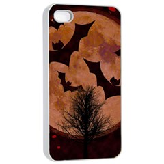 Halloween Card Scrapbook Page Apple iPhone 4/4s Seamless Case (White)