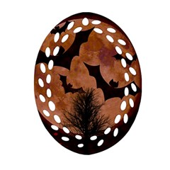 Halloween Card Scrapbook Page Ornament (Oval Filigree)