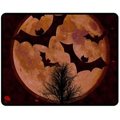 Halloween Card Scrapbook Page Double Sided Fleece Blanket (Medium)