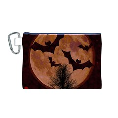 Halloween Card Scrapbook Page Canvas Cosmetic Bag (M)