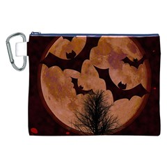 Halloween Card Scrapbook Page Canvas Cosmetic Bag (XXL)