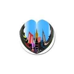 Heart Shape City Love  Golf Ball Marker (10 pack)