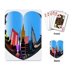 Heart Shape City Love  Playing Card