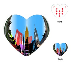 Heart Shape City Love  Playing Cards (Heart)