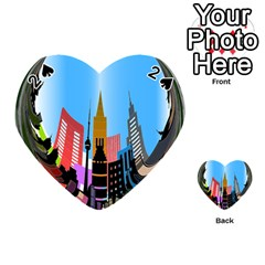 Heart Shape City Love  Playing Cards 54 (Heart)