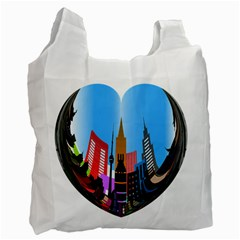 Heart Shape City Love  Recycle Bag (One Side)
