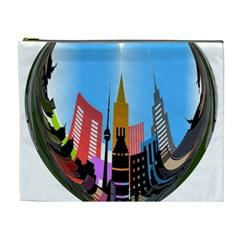 Heart Shape City Love  Cosmetic Bag (XL)