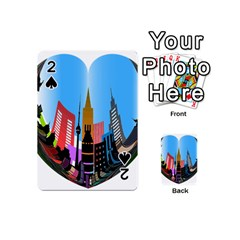 Heart Shape City Love  Playing Cards 54 (Mini)