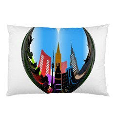 Heart Shape City Love  Pillow Case (Two Sides)
