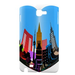 Heart Shape City Love  Samsung Galaxy Note 1 Hardshell Case