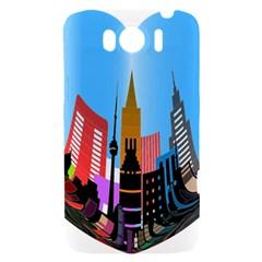 Heart Shape City Love  HTC Sensation XL Hardshell Case