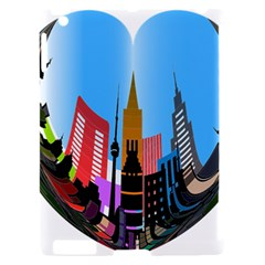 Heart Shape City Love  Apple iPad 2 Hardshell Case (Compatible with Smart Cover)