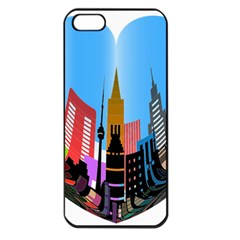 Heart Shape City Love  Apple iPhone 5 Seamless Case (Black)