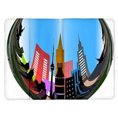 Heart Shape City Love  Kindle Fire (1st Gen) Flip Case