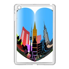Heart Shape City Love  Apple iPad Mini Case (White)