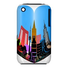 Heart Shape City Love  Apple iPhone 3G/3GS Hardshell Case (PC+Silicone)