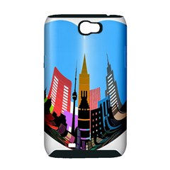 Heart Shape City Love  Samsung Galaxy Note 2 Hardshell Case (PC+Silicone)