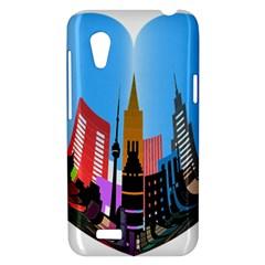 Heart Shape City Love  HTC Desire VT (T328T) Hardshell Case