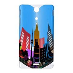 Heart Shape City Love  Sony Xperia TX