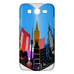 Heart Shape City Love  Samsung Galaxy Mega 5.8 I9152 Hardshell Case