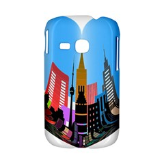 Heart Shape City Love  Samsung Galaxy S6310 Hardshell Case