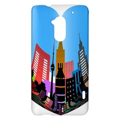Heart Shape City Love  HTC One Max (T6) Hardshell Case